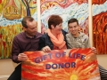 16 year old Joshua O'Halloran from Tynagh, Portumna, Co. Galway with his parents Oliva and Francis