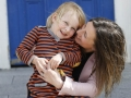 4 year old Kate Burke with her mum Runagh, from Claremorris, Co Mayo