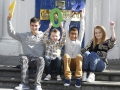 Joshua O'Halloran, Luke Concannon, Salem Alhag and Courtney Kealy - all recipients of kidney transplants at Temple Street