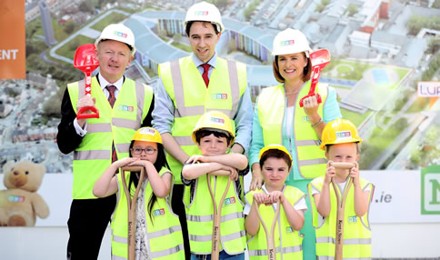 Minister for Health, Simon Harris marks the commencement of construction of the new children's hospital