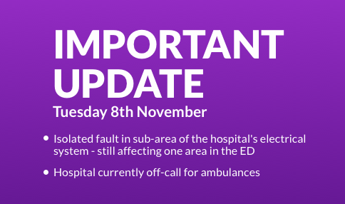 IMPORTANT UPDATE – Temple Street Children's University Hospital experienced an isolated fault in a sub-area of the hospital's electrical system