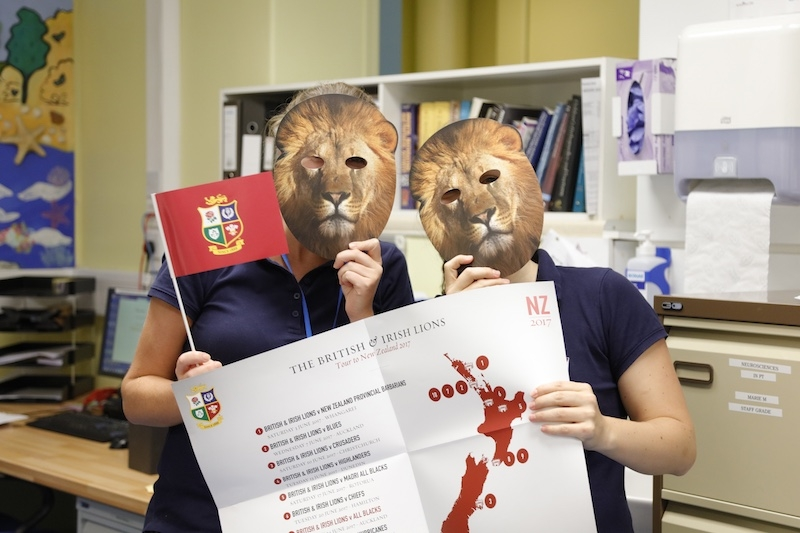 The Temple Street Physio Department is all set to celebrate the British and Irish Lions Tour