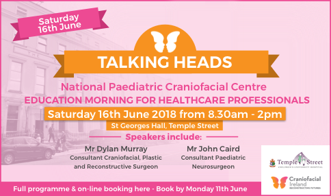 NPCC invite to HCPs to TALKING HEADS Education Morning in Temple Street on Sat 16th June (am)