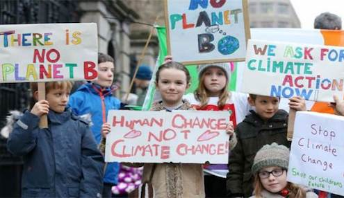 Irish children strike a climate blow
