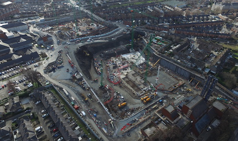 Latest drone footage of new children's hospital