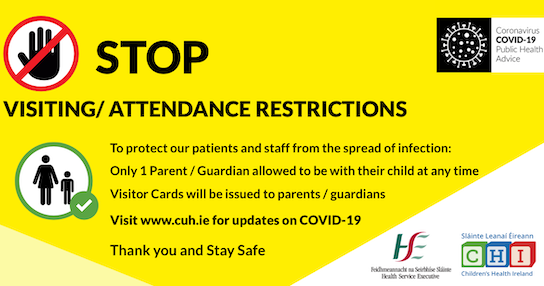 Children's Health Ireland (CHI) – Update on COVID-19 Visitor Restrictions
