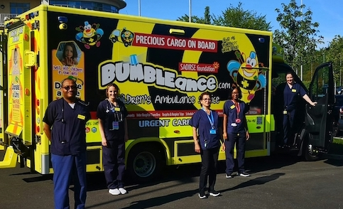 A new Bumbleance Service providing daily interhospital transfers of patients across Children's Health Ireland (CHI) commences